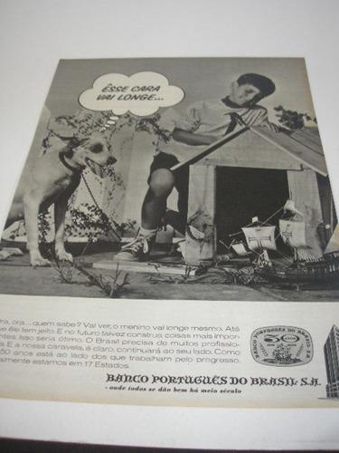 l  290/ gzba300  propaganda antiga banco portugues do brasil