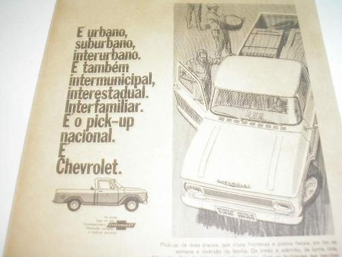 l  290/ p propaganda antiga gm pick-up chevrolet 1967 # 4