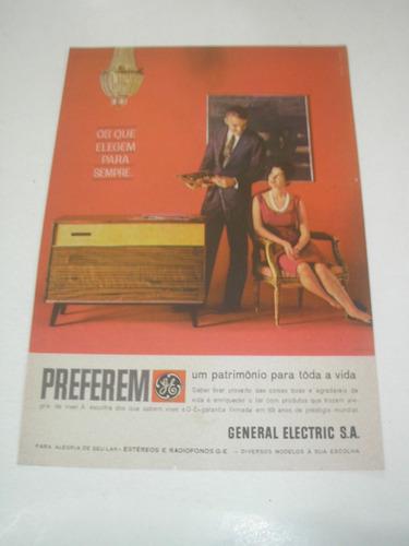 l  290/ p propaganda antiga radiofonos general electric # 10