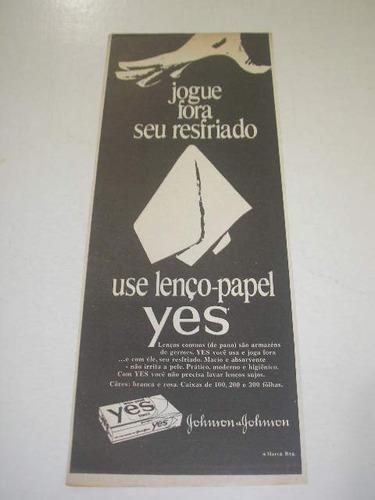 l  290/ p tira de propaganda antiga lenços de papel yes # 1