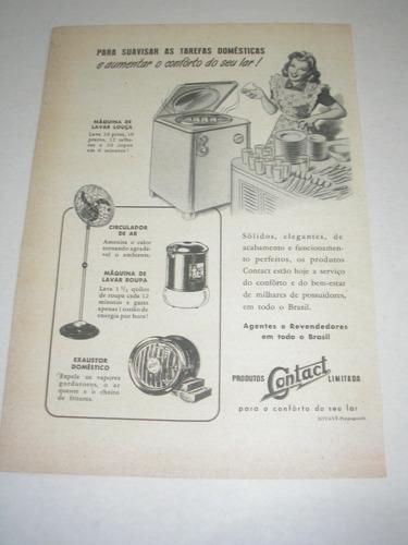 l  290/ padr40 propaganda antiga eletrodomésticos contact