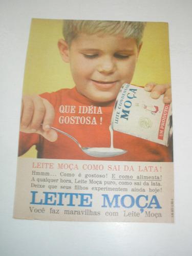 l  290/ padr90 propaganda antiga leite condensado moça