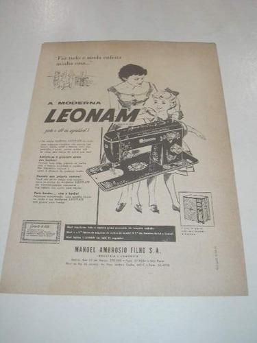l  290/ pbmk460 propaganda antiga máquina costura leonam