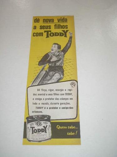 l  290/ pbmk480 tira de propaganda antiga toddy