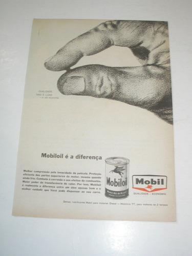 l - 290/  pmr40  propaganda antiga  óleo mobil mobiloil
