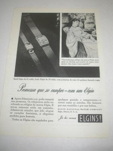 l - 290/ pngk80  propaganda antiga relógio elgin