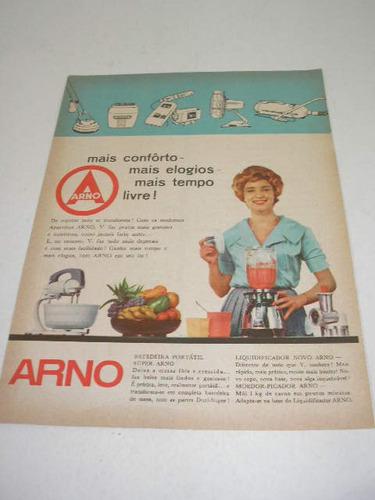 l 290/ pps150  propaganda antiga eletrodomésticos arno