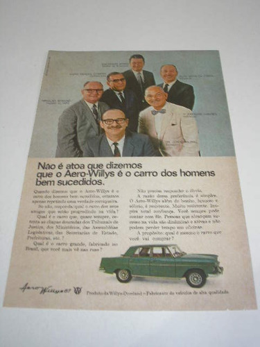 l  290/ pps20 propaganda antiga willys aero willys 1967