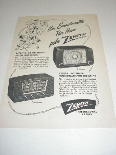 l - 290/ prm110 propaganda antiga  rádio zenith