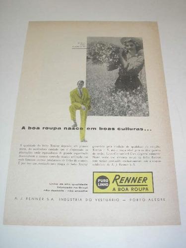 l  290/ psan90  propaganda antiga roupas renner