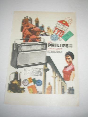 l 290/ pup10  propaganda antiga rádio passeport philips