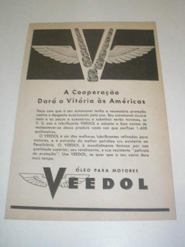 l 290/ pup100 propaganda antiga 2 guerra óleo motor veedol