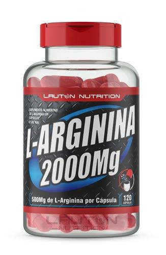 l - arginina 2000 mg pote com 120 capsulas lauton nutrition
