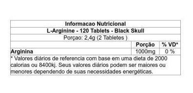 Resultado de imagem para l arginina black skull tablets