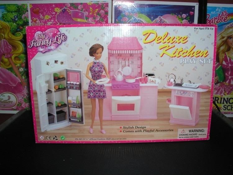 L Barbie Gloria Munecas Juego De Cocina S 53 00 En Mercado Libre