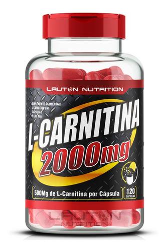 l carnitina 2000 com 120 cápsulas de 500mg lauton