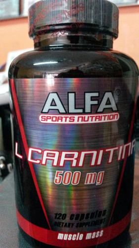 l-carnitina 500 mg  120 capsulas americano