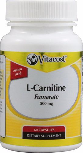 l carnitina 500mg 60 capsulas aminoacido energia quemagrasas