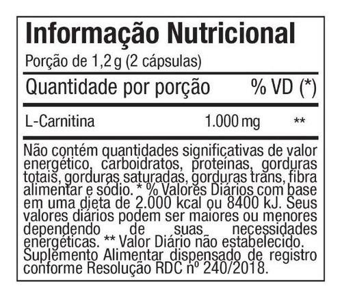 l-carnitina carnipure - 60 cápsulas - ftw