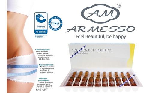 l-carnitina / inyectable / quema grasa /localizada / armesso