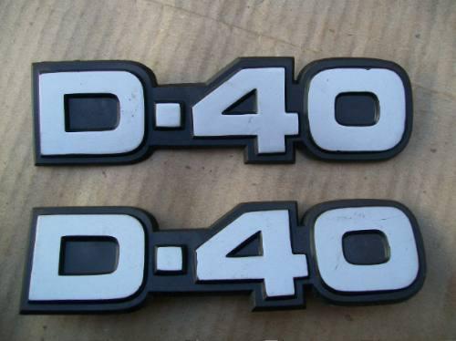 l chevrolet antigo d40 - emblema do paralama dianteiro d-40