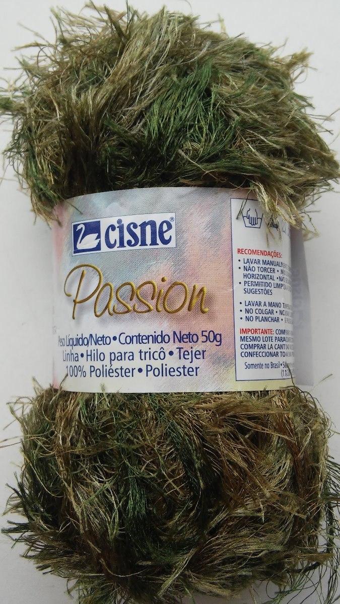 Lã   Fio Cisne Passion 50g. - Kit Com 3 Novelos. - R  21 56c9103655b