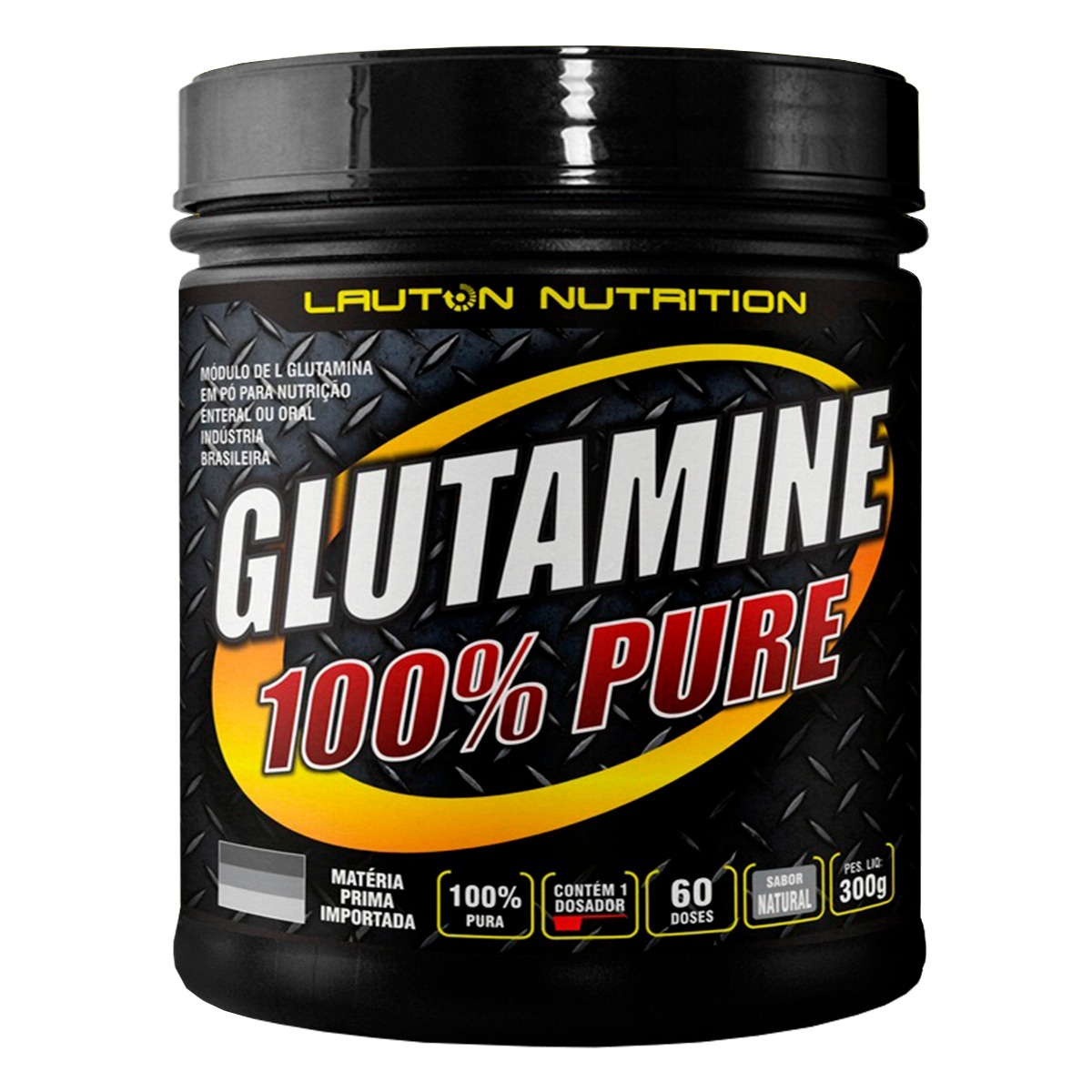 4069be073 l glutamina pó 300g 100% pura - lauton nutrition. Carregando zoom.