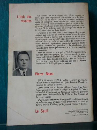 l' irak des révoltes - le suil ( livro antigo )