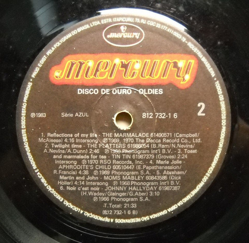 l p  coletânea   disco de ouro oldies  (1983)