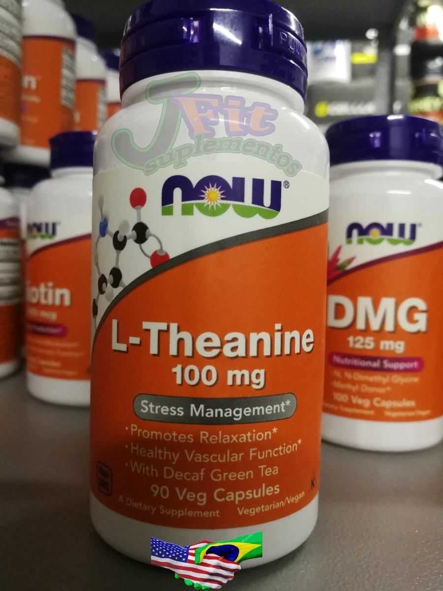 L Teanina Theanine 100mg 90cap Now Foods Importado Garantia