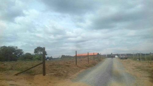 l terreno 1.000 m² já demarcados, ruas abertas e cascalhadas