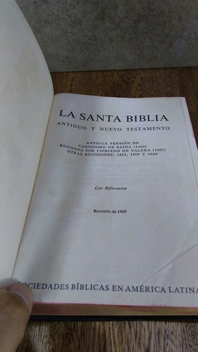 l1370 la santa biblia ver casiodoro de reina revision 1960