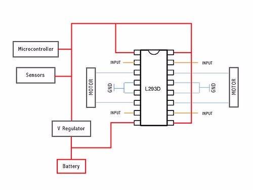 L293 D Driver Motor Pap, Dc, Servo - Arduino, Microchip, Etc L Schematic on