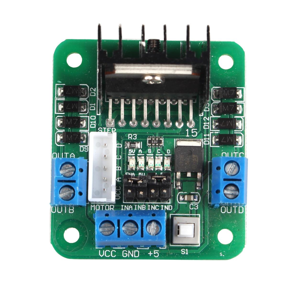 L298n Dual H Bridge Dc Stepper Motor Controller Board For Ar on