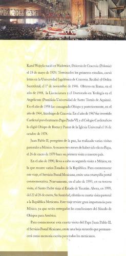 l314-juan pablo ii folleto 2da visita 1990 y 4ta visita 1999