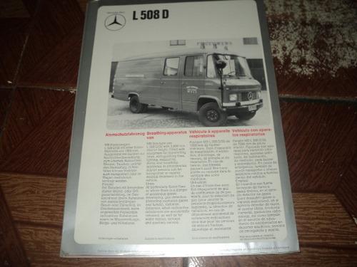 l508d  mercedes-benz  folheto simples frente e verço
