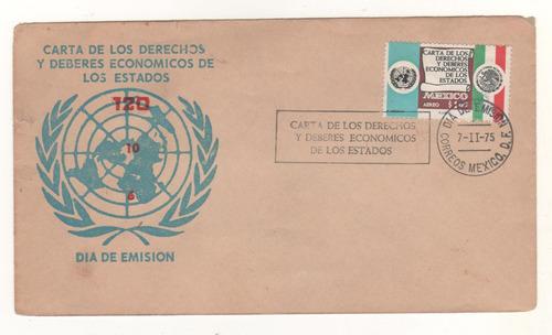 l538-sobre primer día carta de derechos y deberes 1975