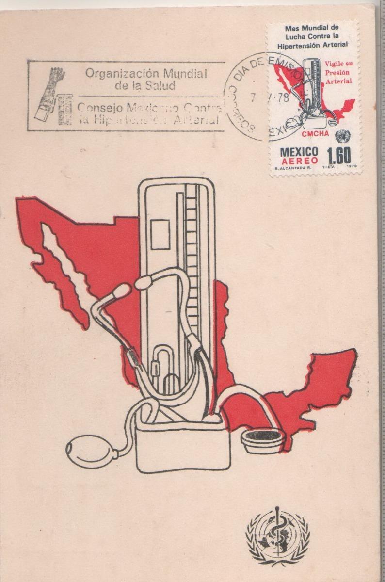 L739-sobre, Tarjeta 1er Día Mesmundial Hipertensión..