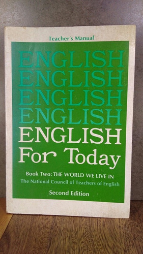 l974 english for today book two second edition the world we
