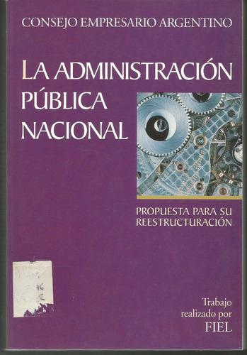 la administración pública nacional