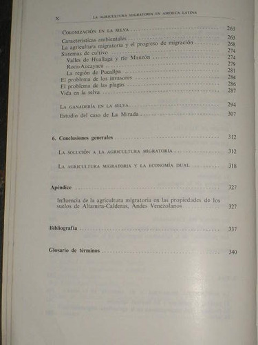 la agricultura migratoria en america latina