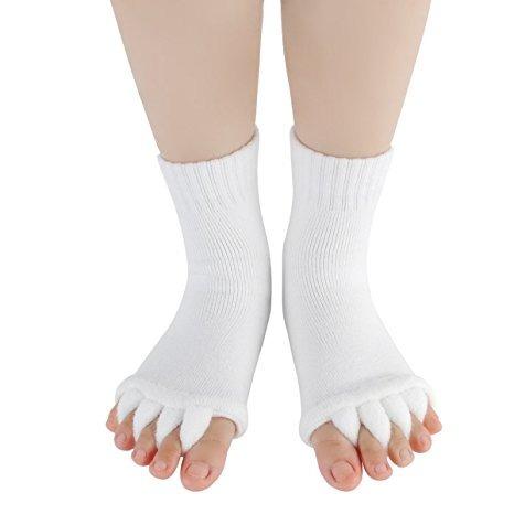 la alineación del pie calcetines del dedo del pie del masaje