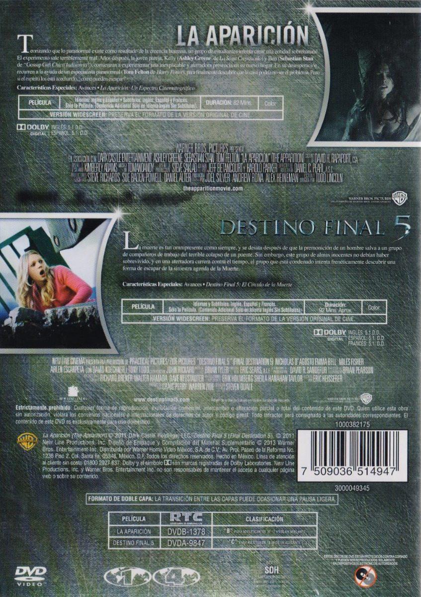 La Aparicion Destino Final 5 Cinco Pelicula Dvd