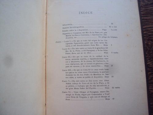 la argentina poema historico barco centenera 1912 conquista