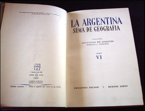 la argentina, suma de geografia, tomo 6 _ aparicio, difrieri
