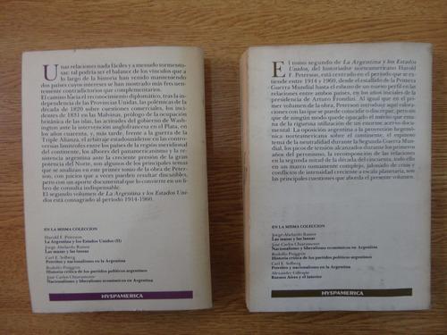 la argentina y los estados unidos. dos tomos. peterson
