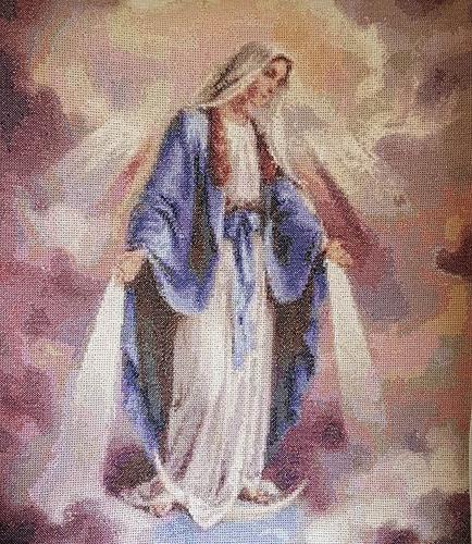 la ascencion de la virgen maria bordado en punto de cruz