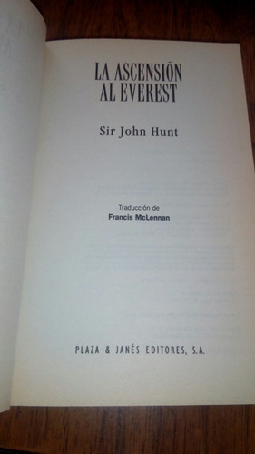 la ascensión al everest - sir john hunt