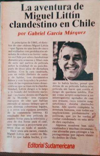 la aventura de miguel littin clandestino en chile. 1986