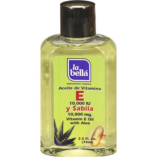 la bella vitamina e con aceite de aloe, 2.5 fl oz